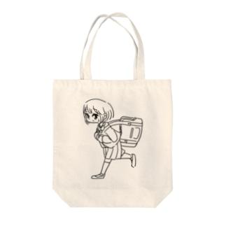 走る女の子 Tote bags