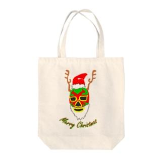 クリスマス マスクマン Tote bags