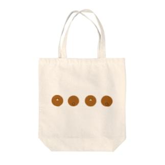 転がりくまトートバッグ Tote bags