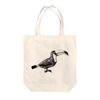 オオハシ <アンティーク・プリント> Tote bags