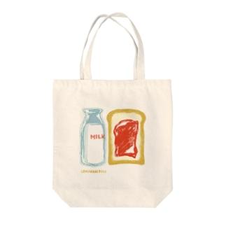 ミルク食パン Tote bags