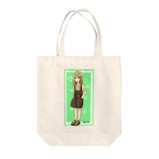 ファッションガール Tote bags