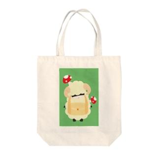 首かしげ Tote bags