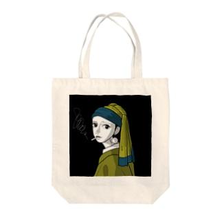 新宿の耳飾りの少女(カラーver.) Tote bags