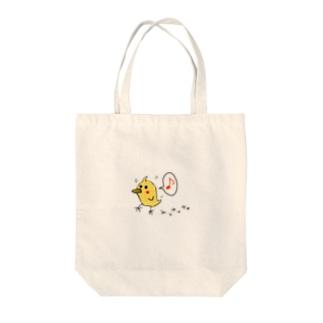 ヒヨコのコマル Tote bags