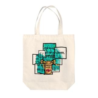 青髪デザイン Tote bags