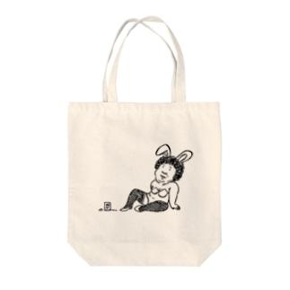 バニーガール Tote bags