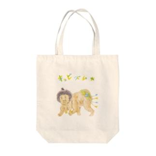 キュビズム力士 Tote bags