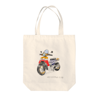 mota2の速そうなカブ号 Tote bags