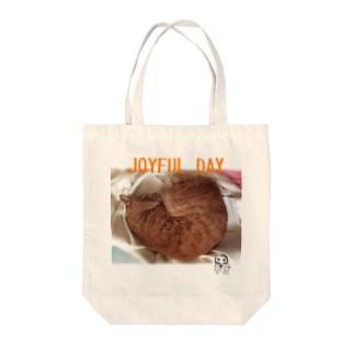 JOYFUL DAY Tote bags