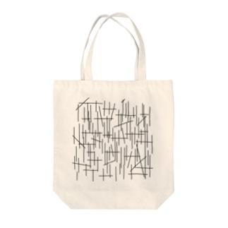 ライン Tote bags