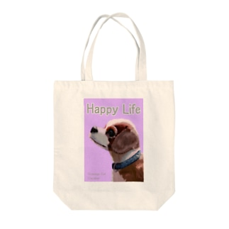 ゆるく放送局の犬と共に(キャバリア) Tote bags