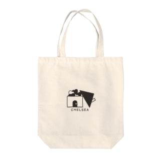 ちぇるしーHome(黒) Tote bags