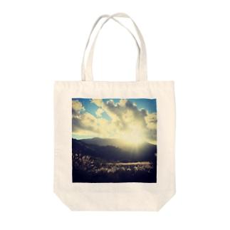 夕日~奥森吉2016秋 Tote bags