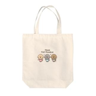 ちーむ トイプードル Tote bags