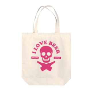 i love beer(Type Skull) Tote bags