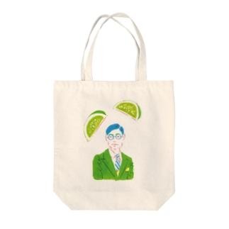 【果物と文人】中島敦とライム Tote bags