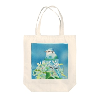 Turquoise〜アオカケス Tote bags