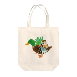 カモネギマスターの雑貨とグッズTシャツ Tote bags