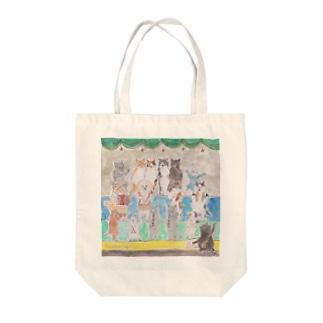 コムギアニマル音楽隊 Tote bags