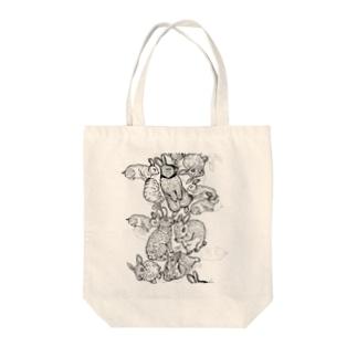 真昼のうさぎ Tote bags
