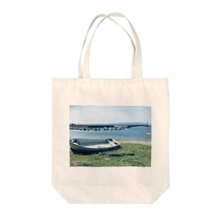 とある田舎の風景(海) Tote bags