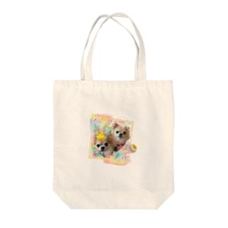 絵画風のチビちゃんとココちゃん Tote bags