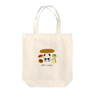 PANDA TO PAN DA Tote bags