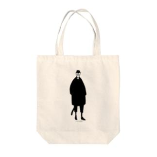 へんなゐきものネコミヤさん Tote bags