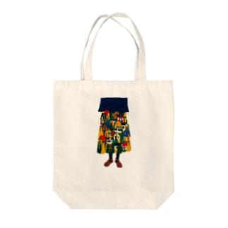 秋のスカート Tote bags