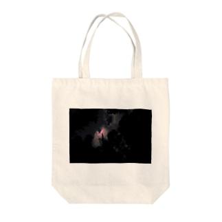あかいつき Tote bags