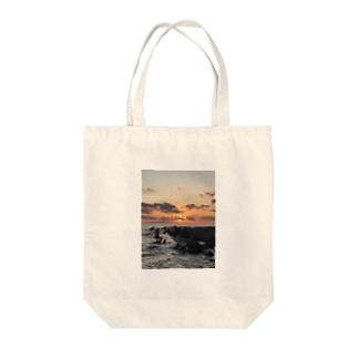 夕焼け 千葉 太平洋 海岸 Tote bags
