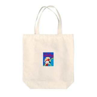 リーゼントスフィンクス宇宙大戦表紙 Tote bags