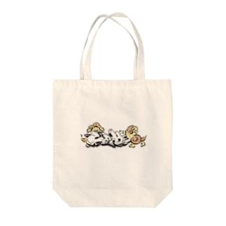 唐獅子グラフィティ series Tote bags