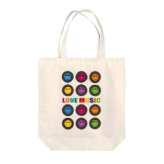 LOVE MUSIC Tote bags