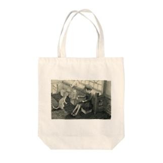 kurobee0510の朝の図書室 Tote bags