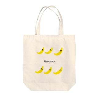 3バナナ 3Banana Tote bags