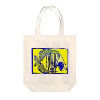 ゴールデンバタフライフィッシュ 切り絵 Tote bags