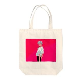 イカしたビビッドボーイ 横 Tote bags