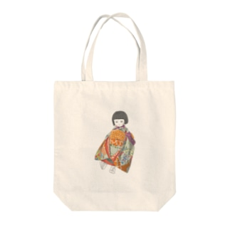 市松人形 茜 Tote bags
