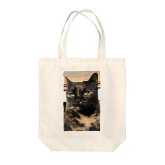 サビ猫メヌエット Tote bags