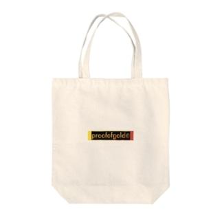 プルーフオブゴールド柄 Tote bags