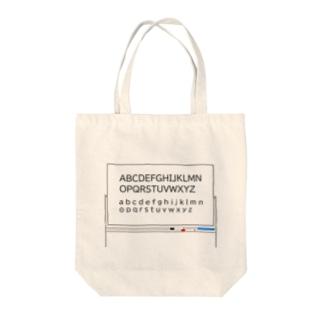 ホワイトボード アルファベット センター Tote bags