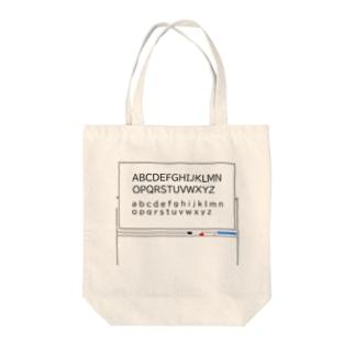 ホワイトボード アルファベット Tote bags