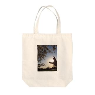 沈む勇気に昇る笑顔 Tote bags