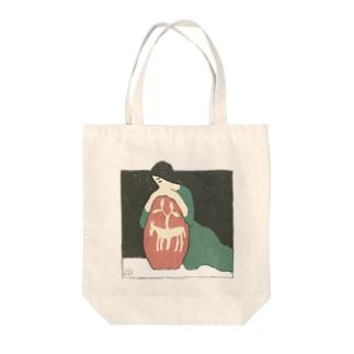 古書 天牛書店の竹久夢二の装丁<ブックデザイン> Tote bags