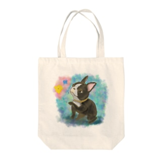 3af1e54bfe8b 可愛い水彩絵の具のフレンチブルドッグTシャツと雑貨 トートバッグ