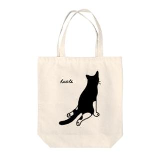 ハチワレ猫 ハチ Big 背面 ver. Tote bags