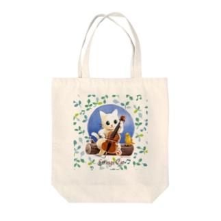 こかげでひと休み・猫と鳥 Tote bags