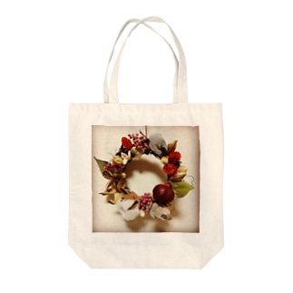 Christmas Wreath Tote bags